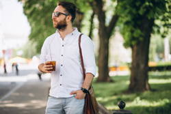 Well dressed man with coffee